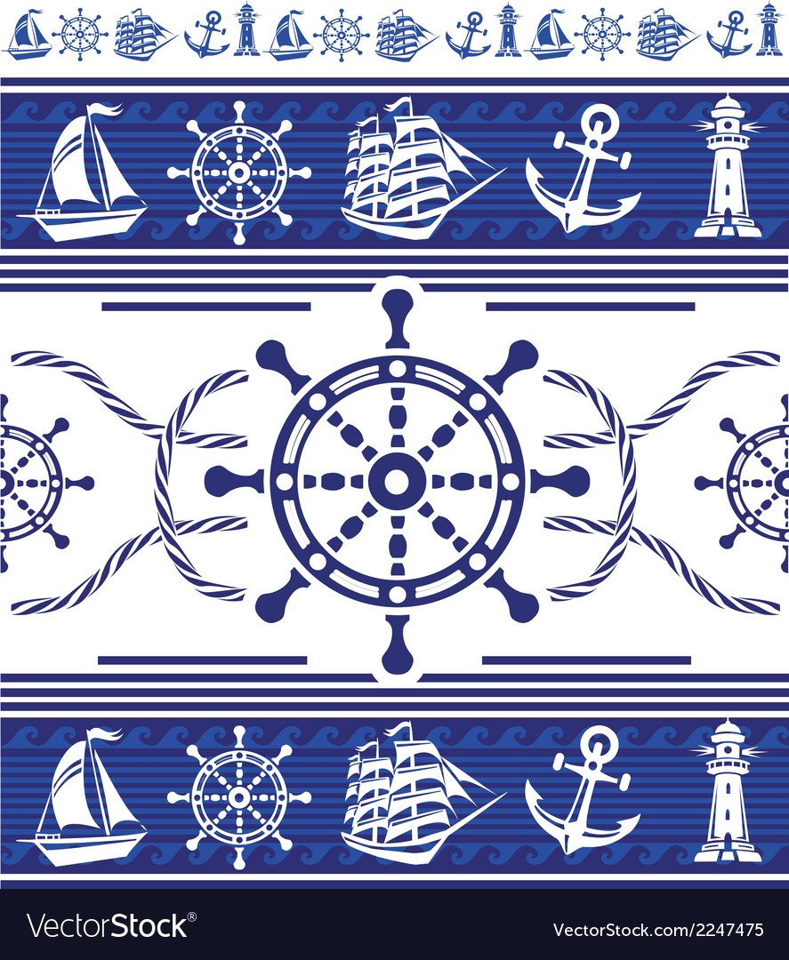Banners with nautical symbols vector | Price: 1 Credit (USD $1)