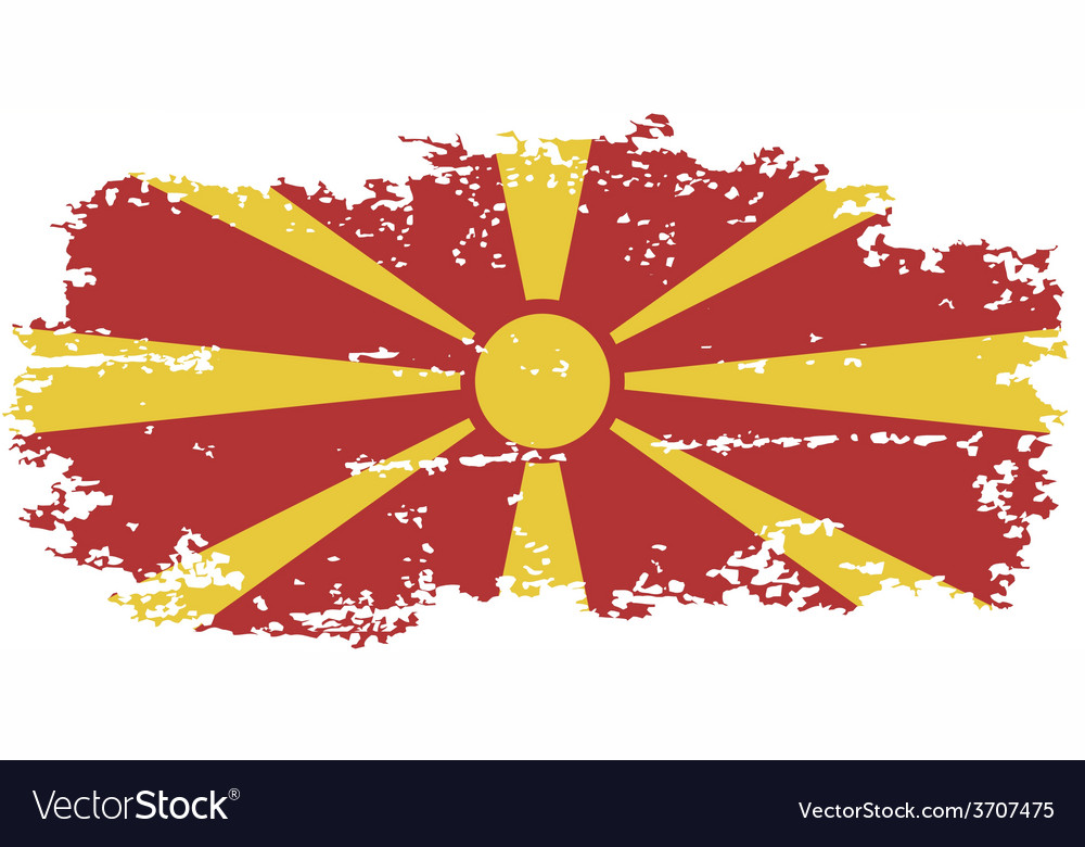 Macedonian grunge flag vector | Price: 1 Credit (USD $1)