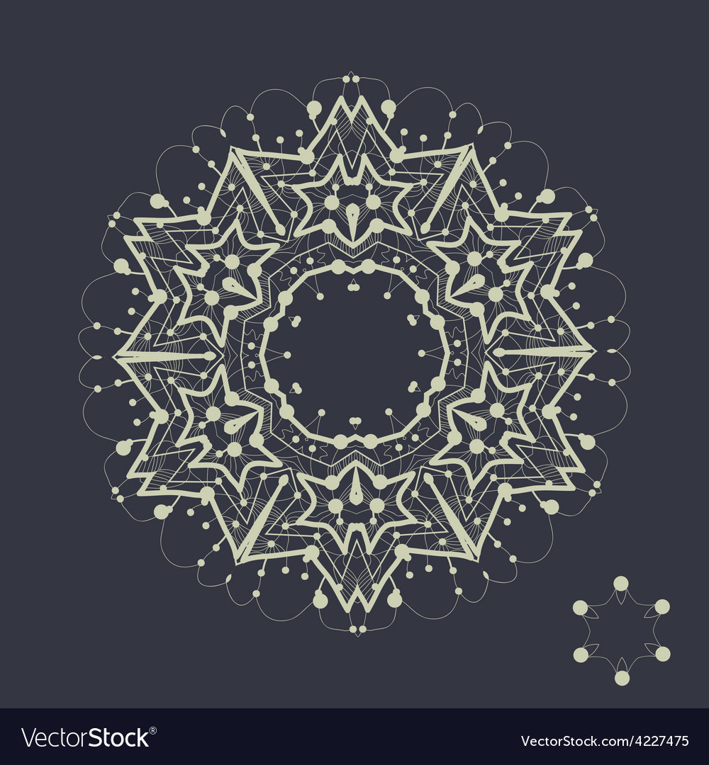 Mandala design outlined shape inspired by tribal vector | Price: 1 Credit (USD $1)