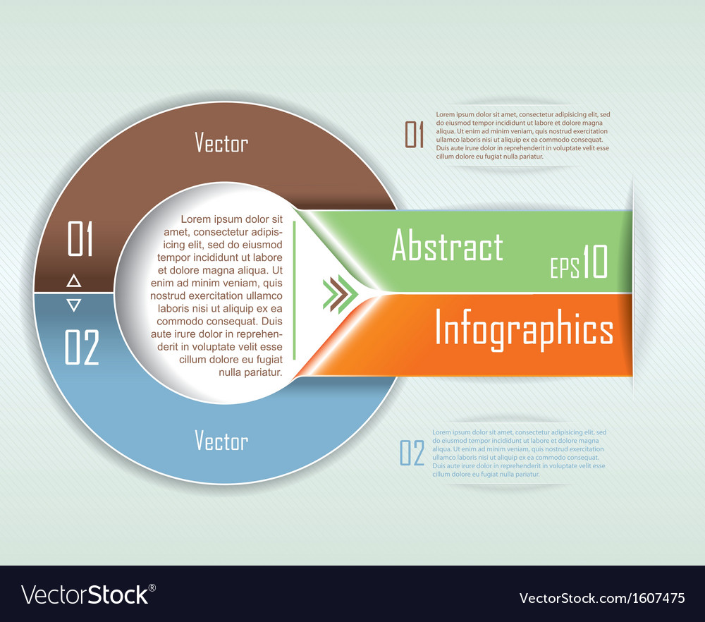 Modern infographics template circle design vector | Price: 1 Credit (USD $1)