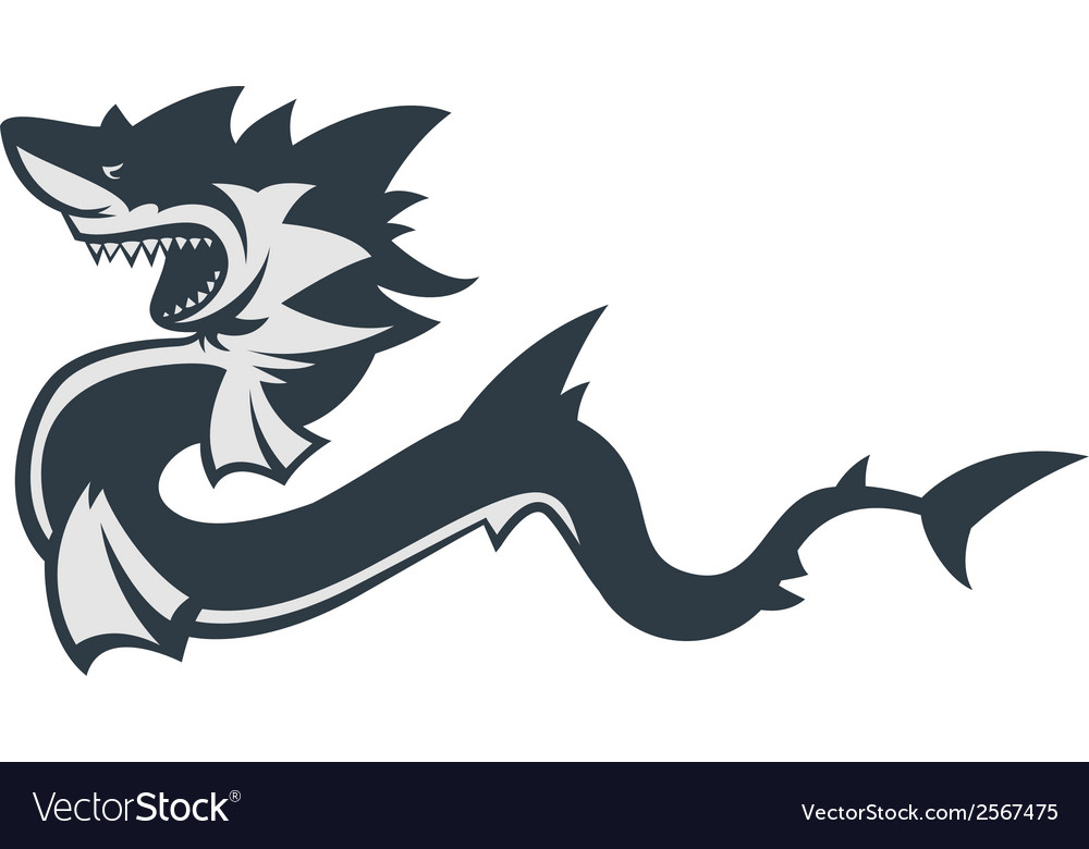 Monster shark vector | Price: 1 Credit (USD $1)