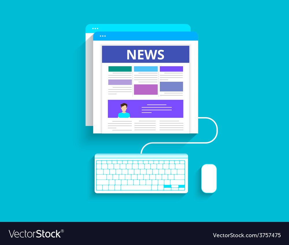 Online reading news vector | Price: 1 Credit (USD $1)