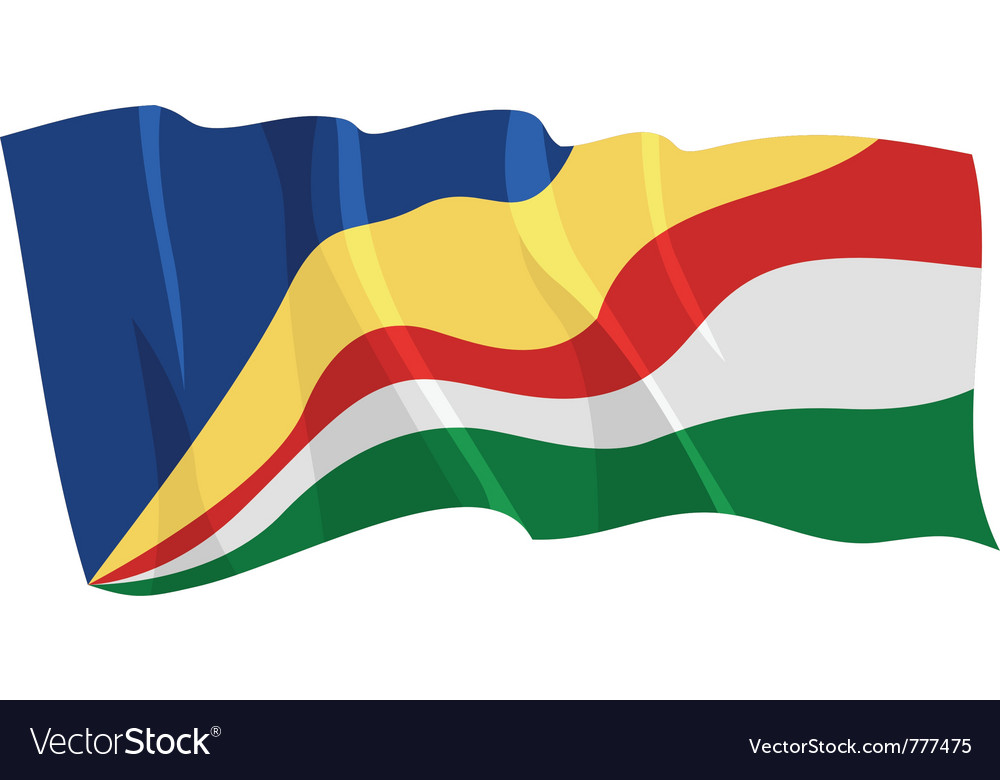 Political waving flag of seychelles vector   Price: 1 Credit (USD $1)