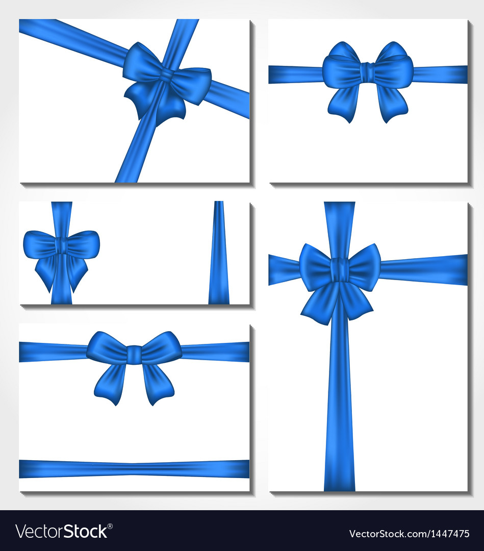 Set of blue gift bows for design packing vector | Price: 1 Credit (USD $1)