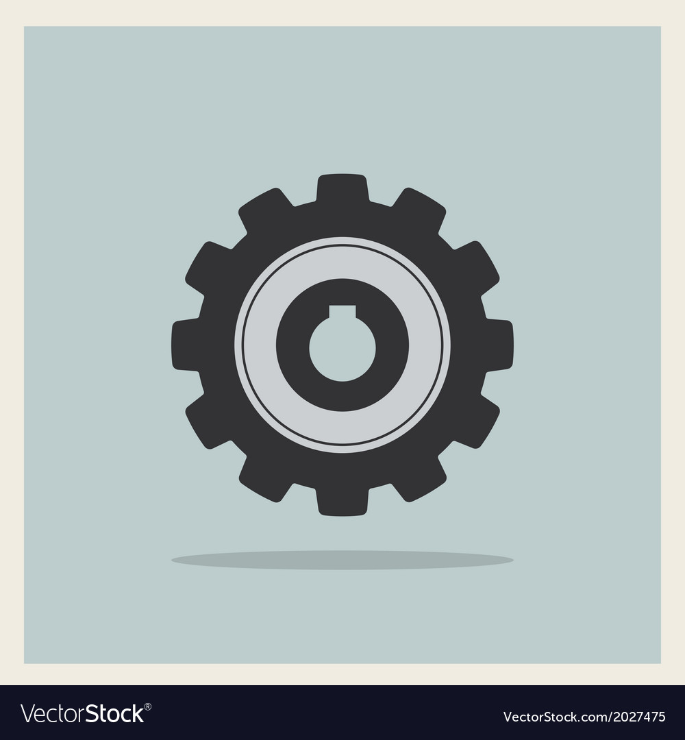 Technology mechanical gear icon vector | Price: 1 Credit (USD $1)