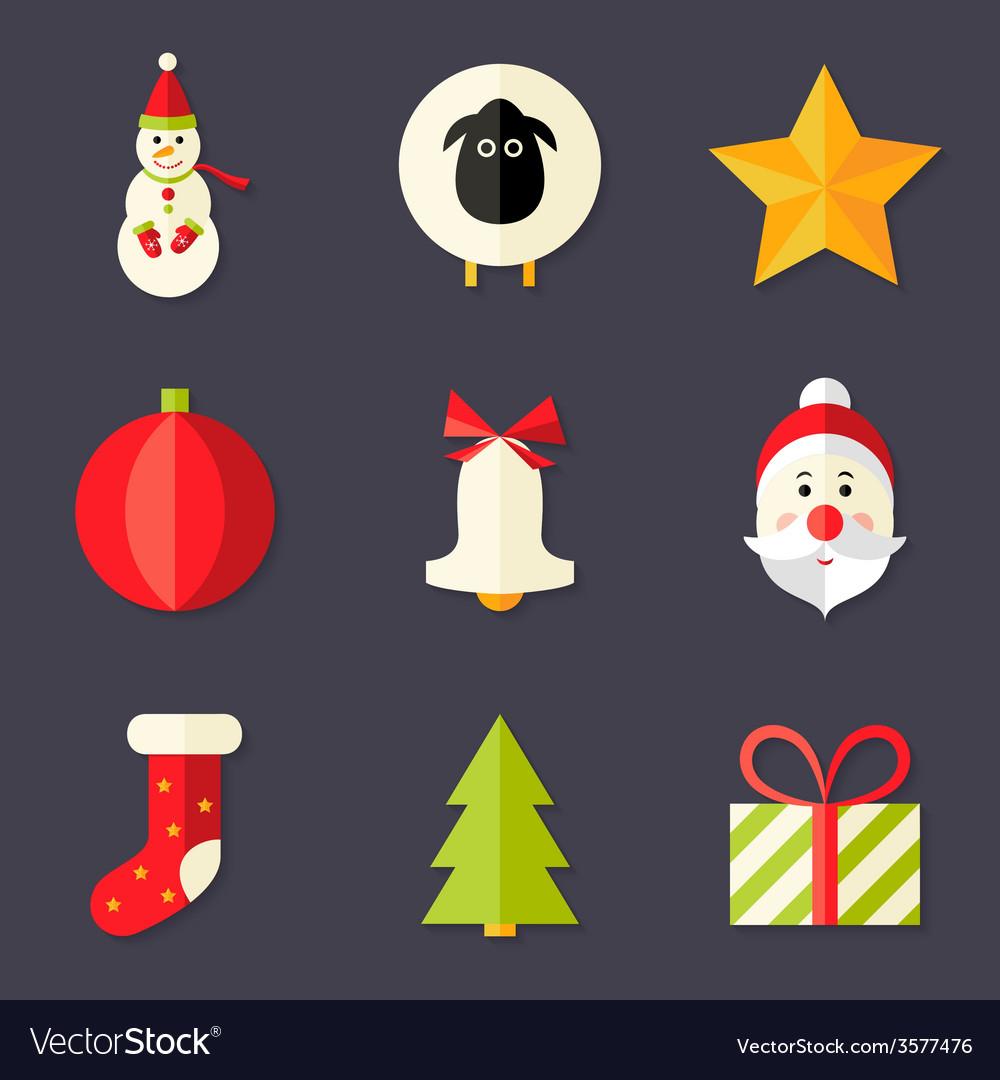 9 christmas icons set 8 vector | Price: 1 Credit (USD $1)