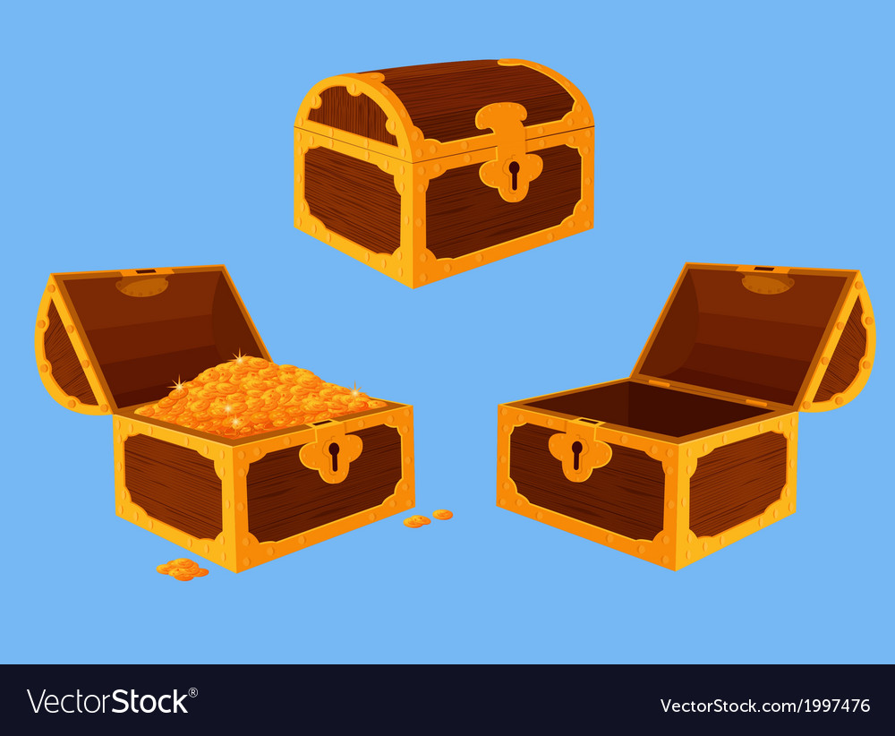 Antique chest set vector | Price: 1 Credit (USD $1)