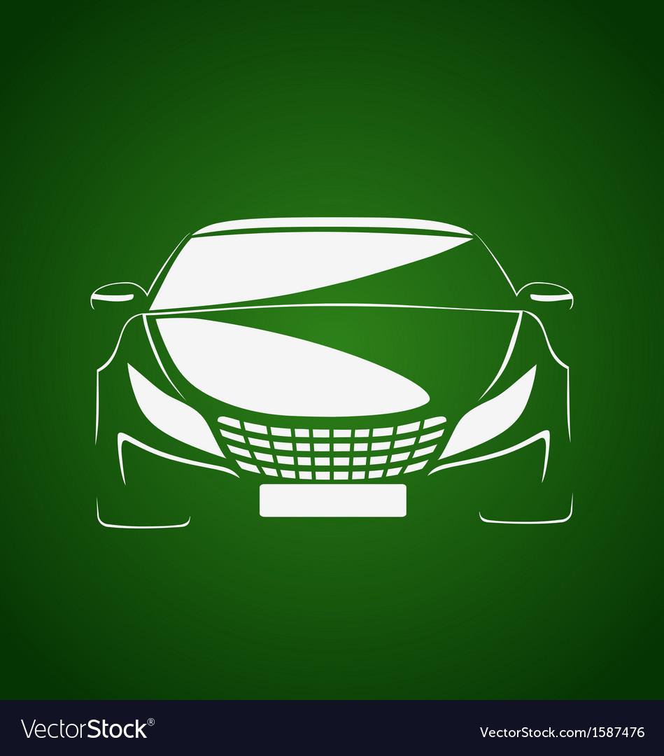 Auto in green vector   Price: 1 Credit (USD $1)