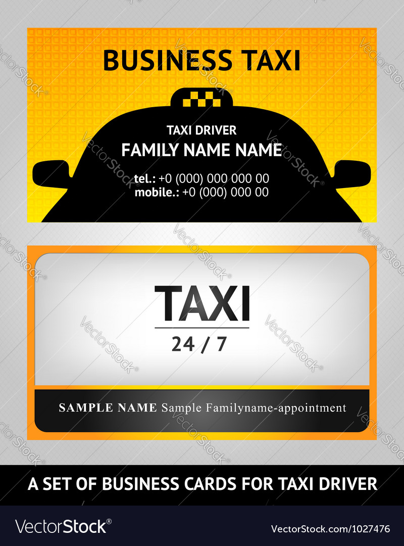 Business cards taxi - set vector | Price: 1 Credit (USD $1)
