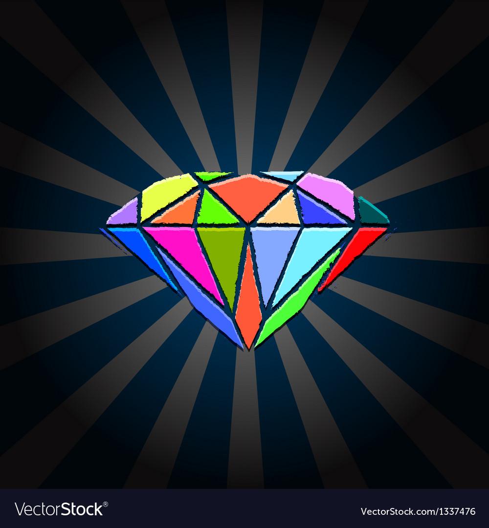 Creative diamond vector | Price: 1 Credit (USD $1)