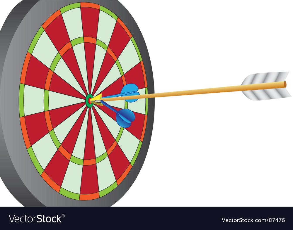 Dart and arrow vector   Price: 1 Credit (USD $1)
