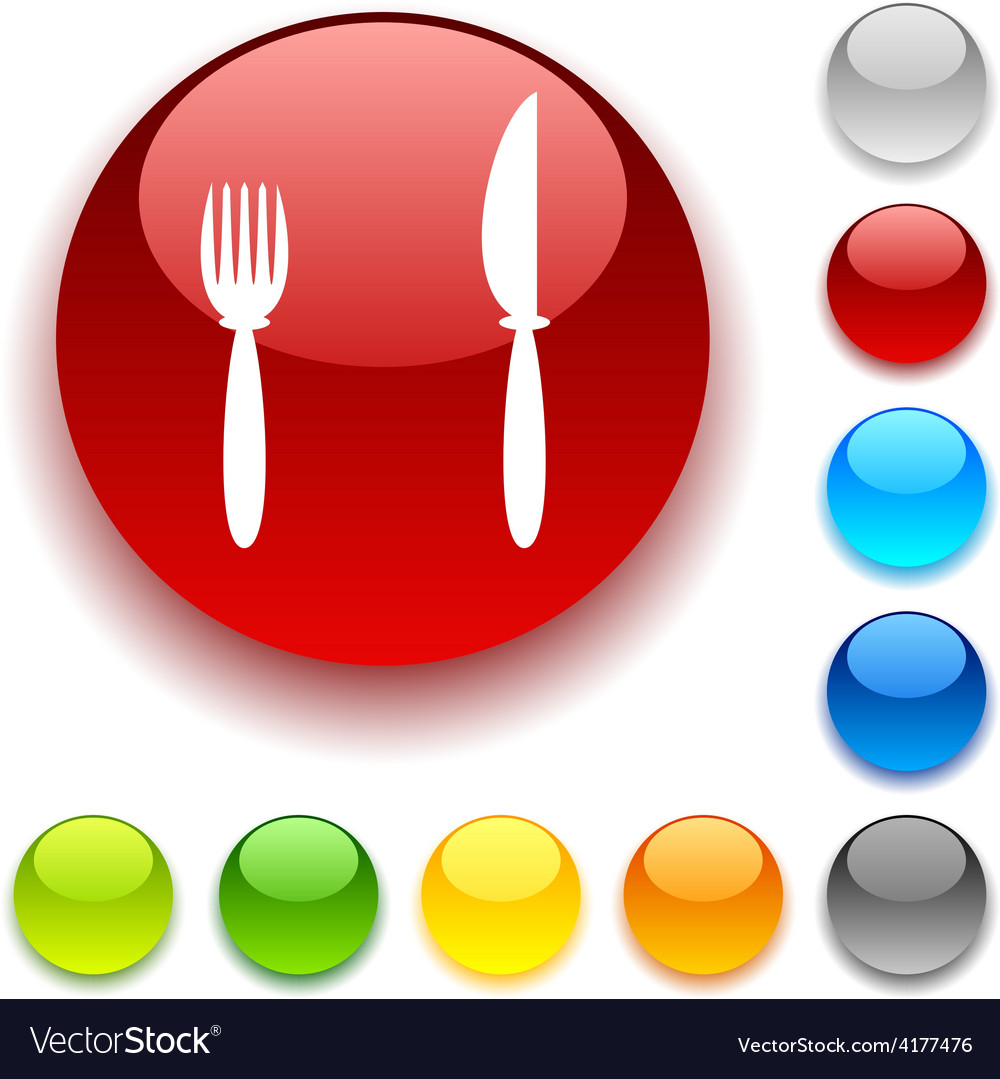 Dinner button vector | Price: 1 Credit (USD $1)
