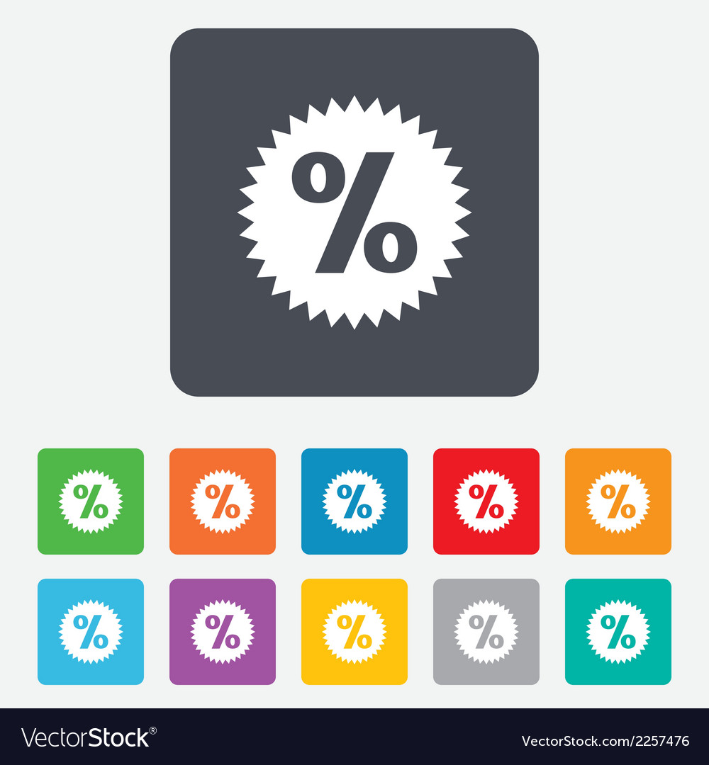 Discount percent sign icon star symbol vector | Price: 1 Credit (USD $1)