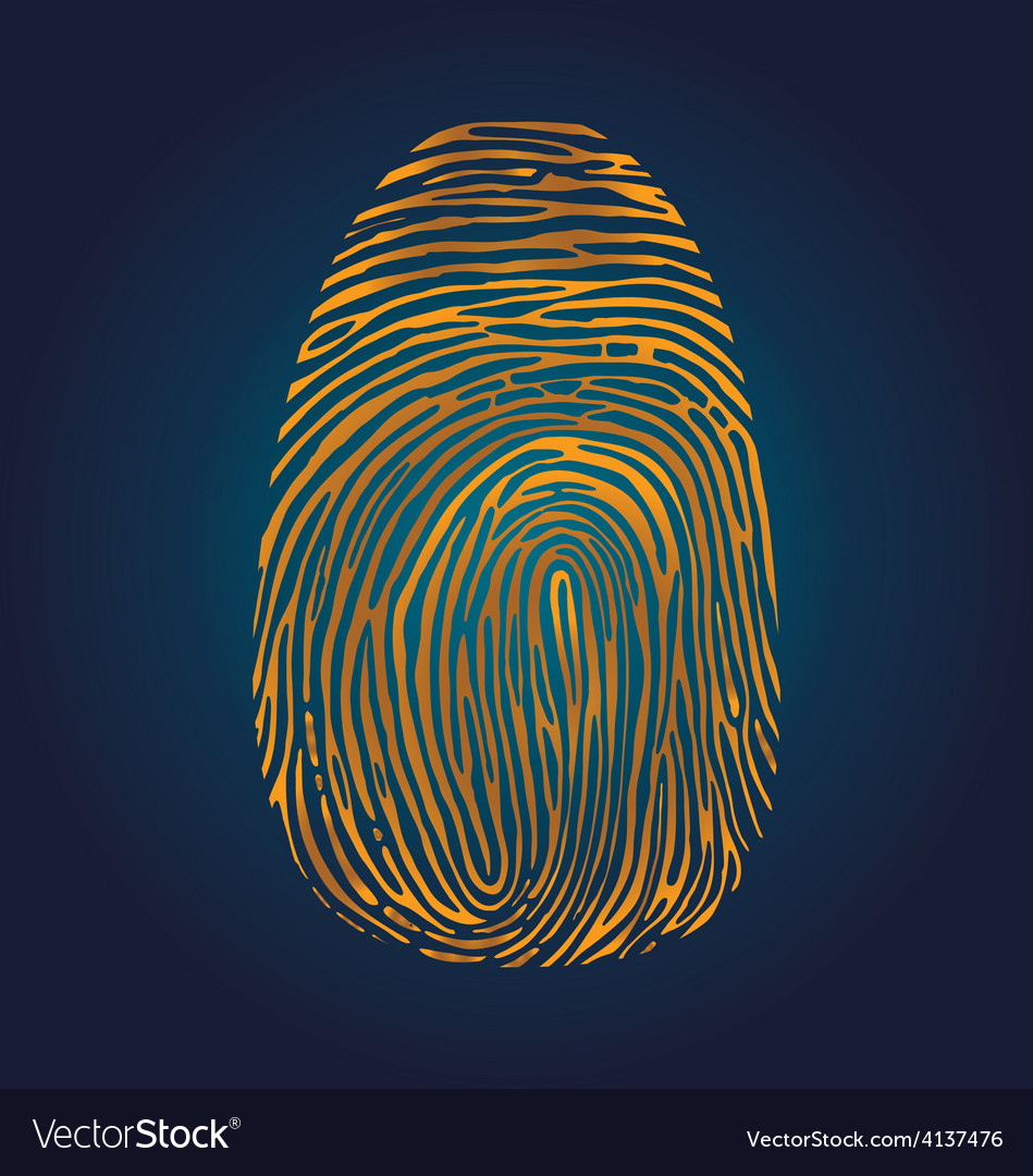 Fingerprint vector | Price: 1 Credit (USD $1)