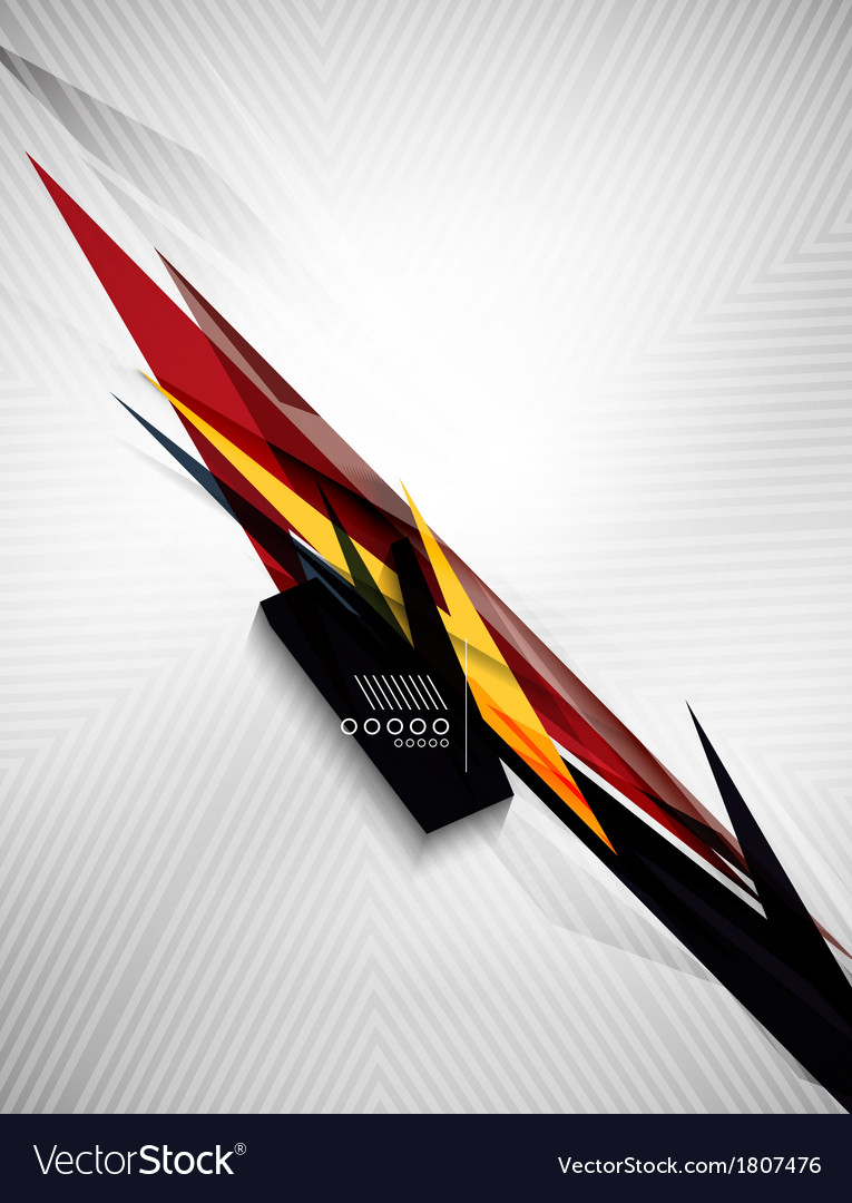 Geometric shape line lightning business background vector | Price: 1 Credit (USD $1)