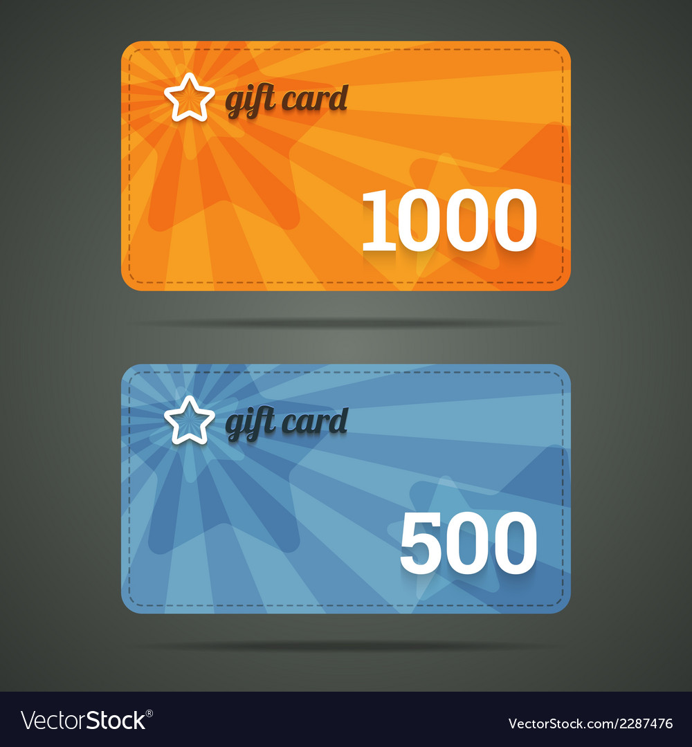 Gift card template with star and number vector | Price: 1 Credit (USD $1)