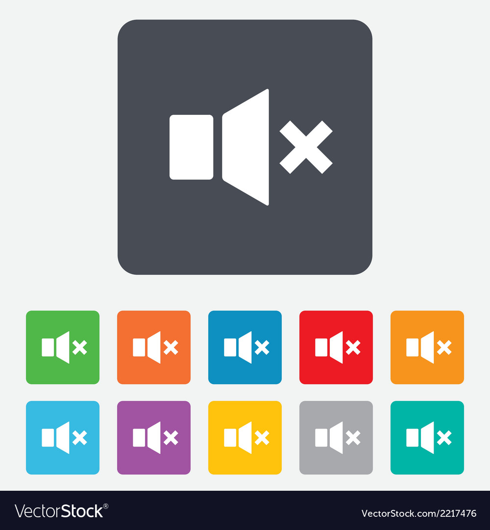 Mute speaker sign icon sound symbol vector | Price: 1 Credit (USD $1)