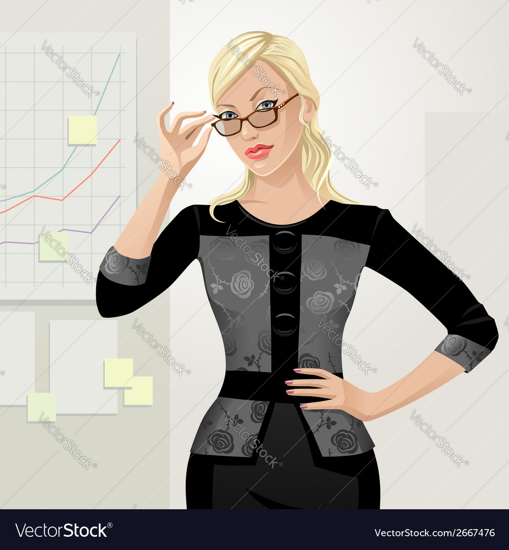Office girl boss vector | Price: 3 Credit (USD $3)