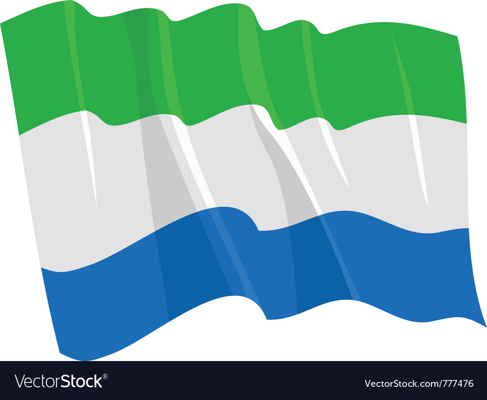 Political waving flag of sierra leone vector | Price: 1 Credit (USD $1)