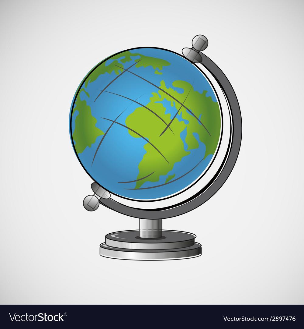 School globe on a light background vector   Price: 1 Credit (USD $1)