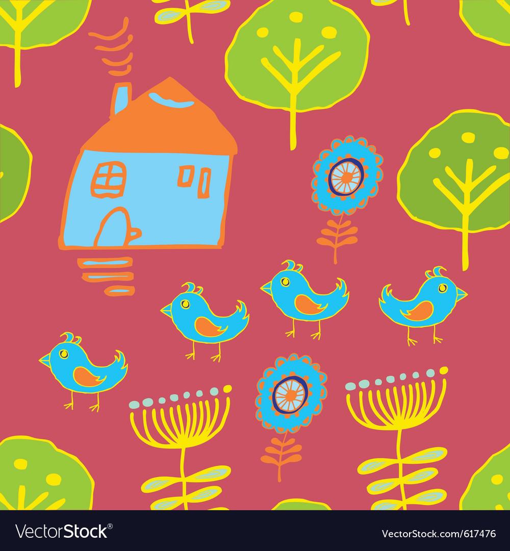 Tweeting birds background vector | Price: 1 Credit (USD $1)