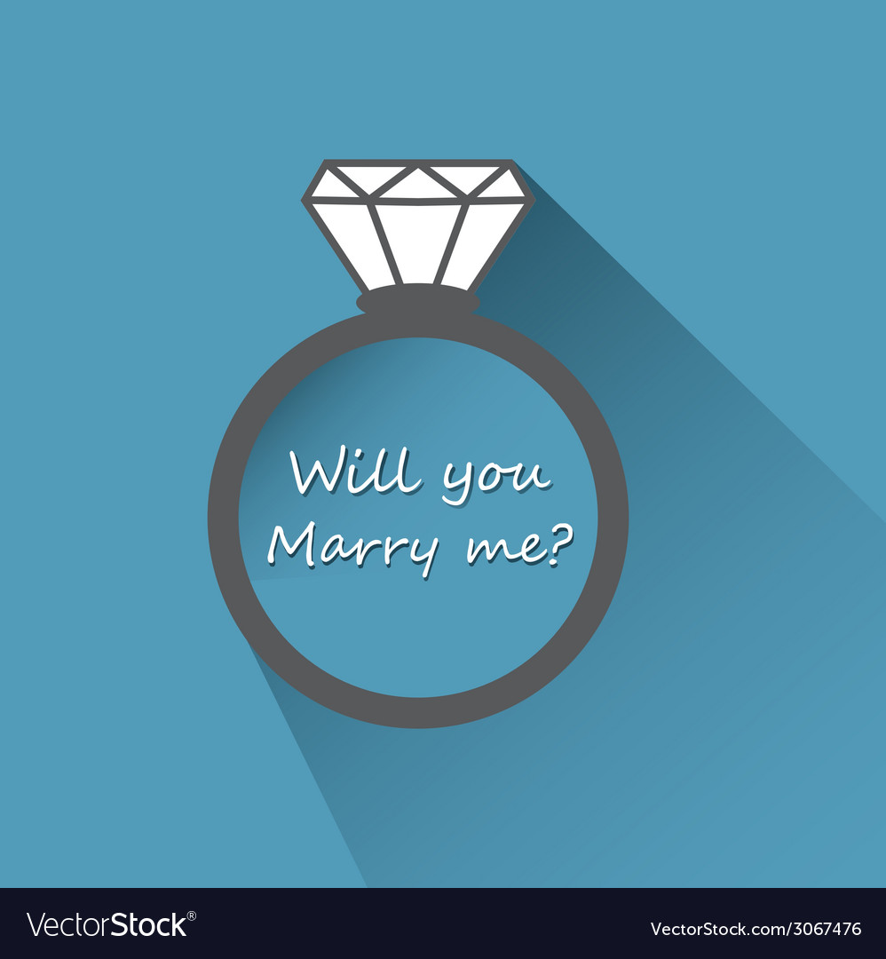 Will you marry me ring sign icon vector | Price: 1 Credit (USD $1)