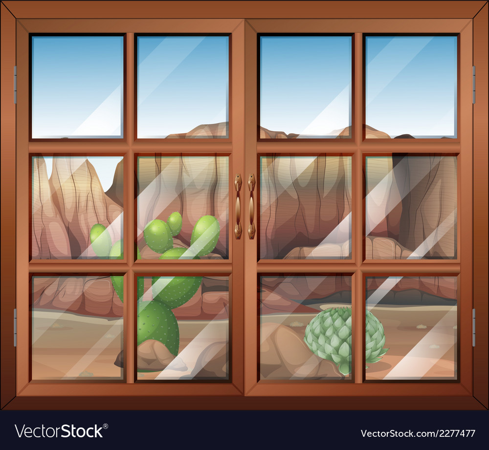 A closed window at the desert vector | Price: 1 Credit (USD $1)