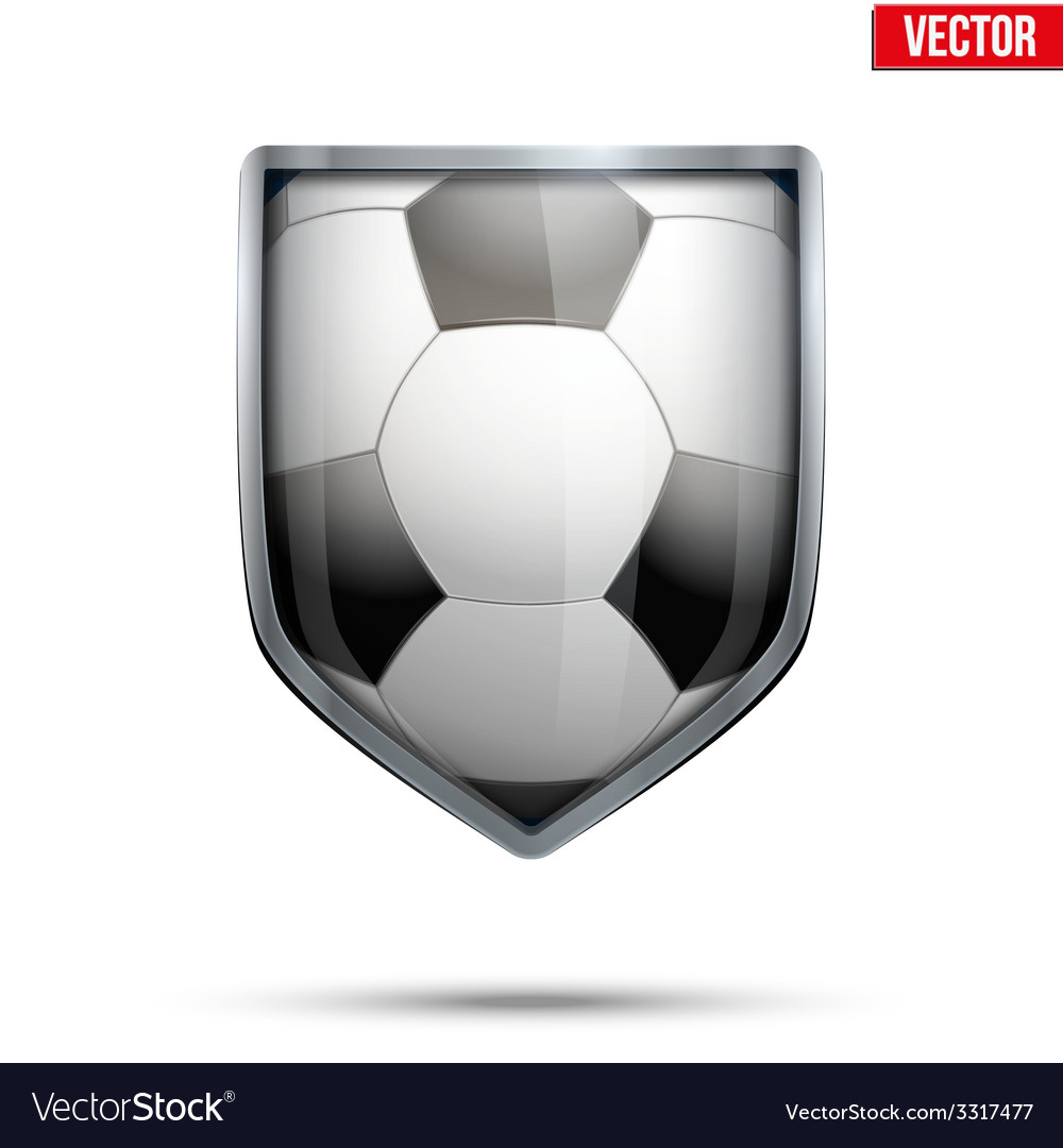 Bright shield in the football ball inside vector | Price: 1 Credit (USD $1)
