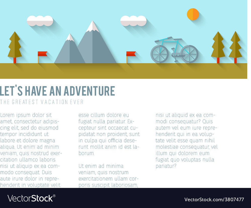 Camping flat design vector | Price: 1 Credit (USD $1)