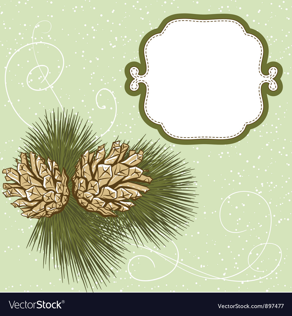 Christmas hand drawn fur tree for xmas design with vector | Price: 1 Credit (USD $1)
