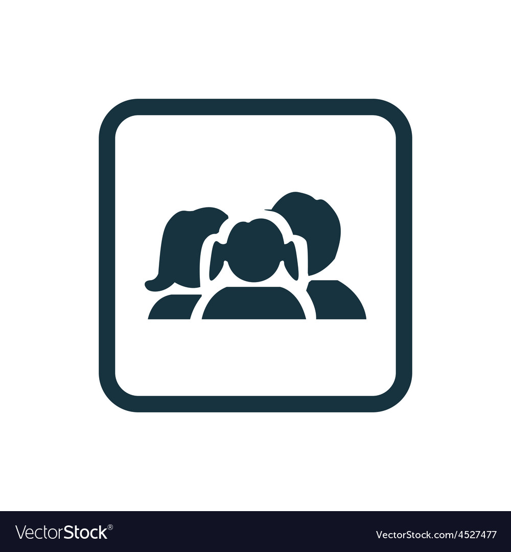 Family icon rounded squares button vector | Price: 1 Credit (USD $1)