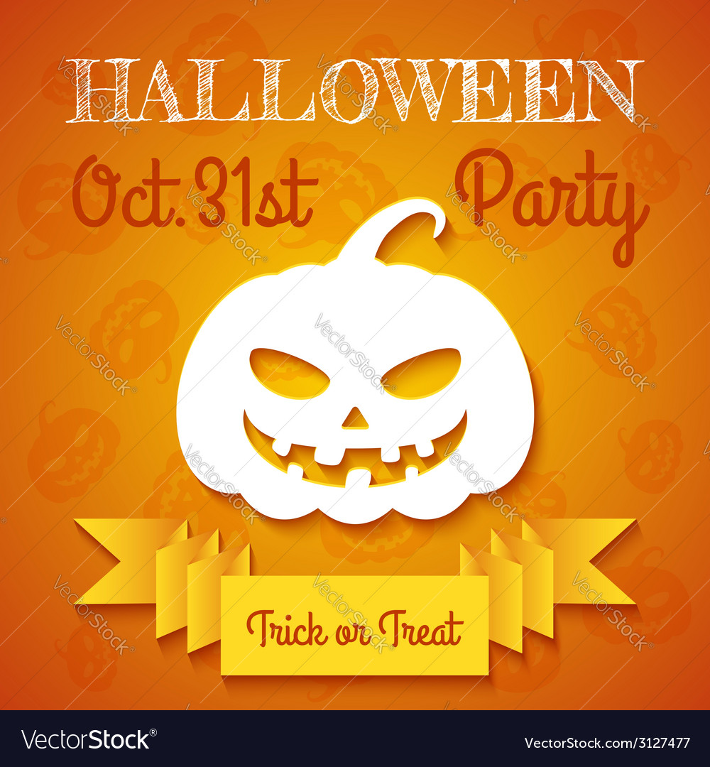 Halloween party flyer template vector | Price: 1 Credit (USD $1)