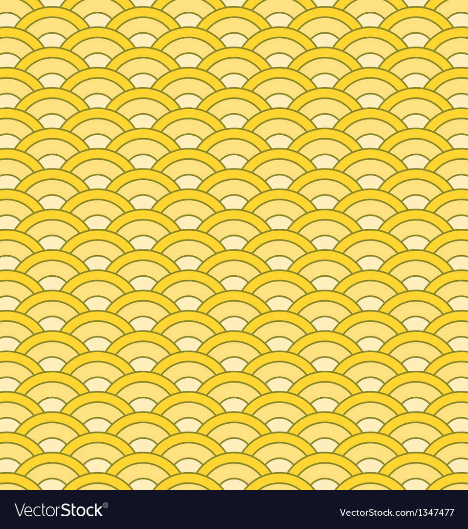 Japanese waves seamless pattern vector | Price: 1 Credit (USD $1)