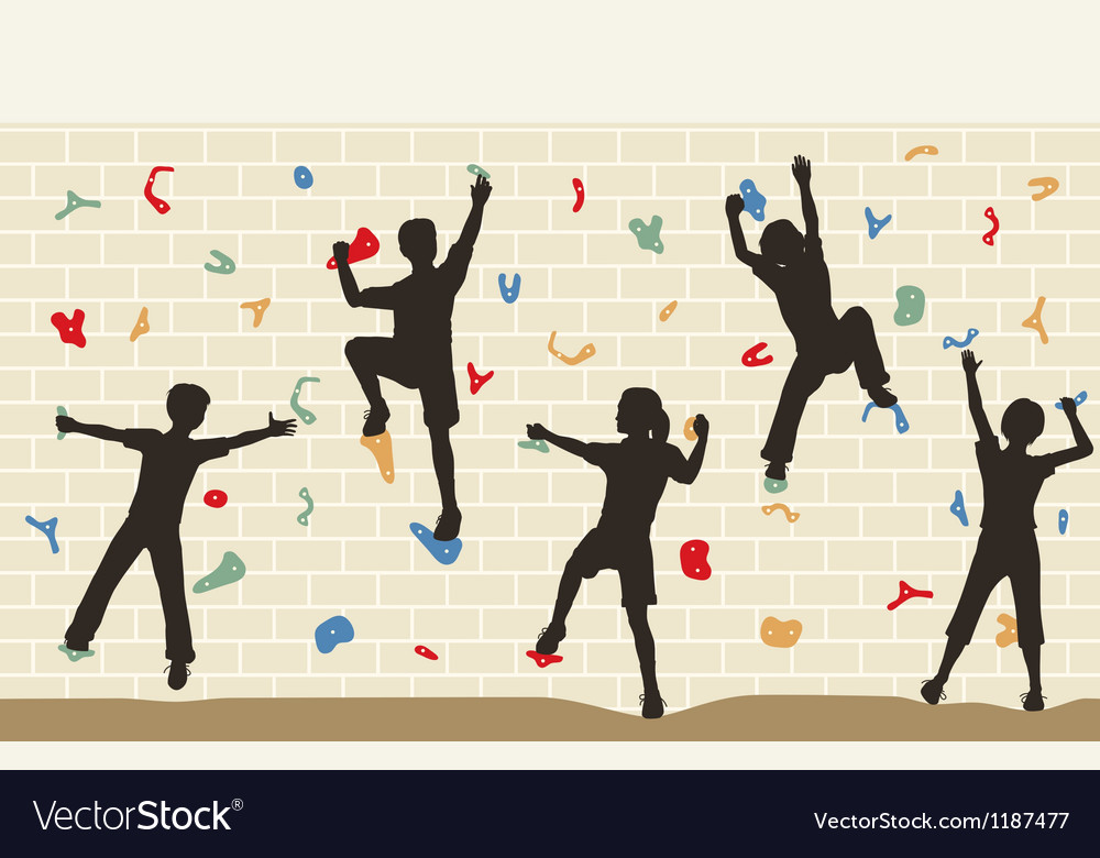 Kids climbing wall vector | Price: 1 Credit (USD $1)