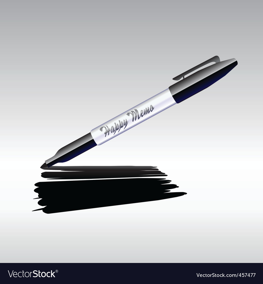 Marker drawing vector | Price: 1 Credit (USD $1)