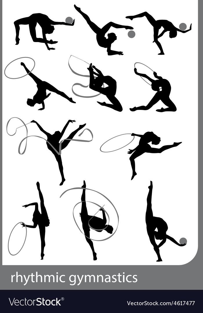 Rhythmic gymnastics vector | Price: 1 Credit (USD $1)