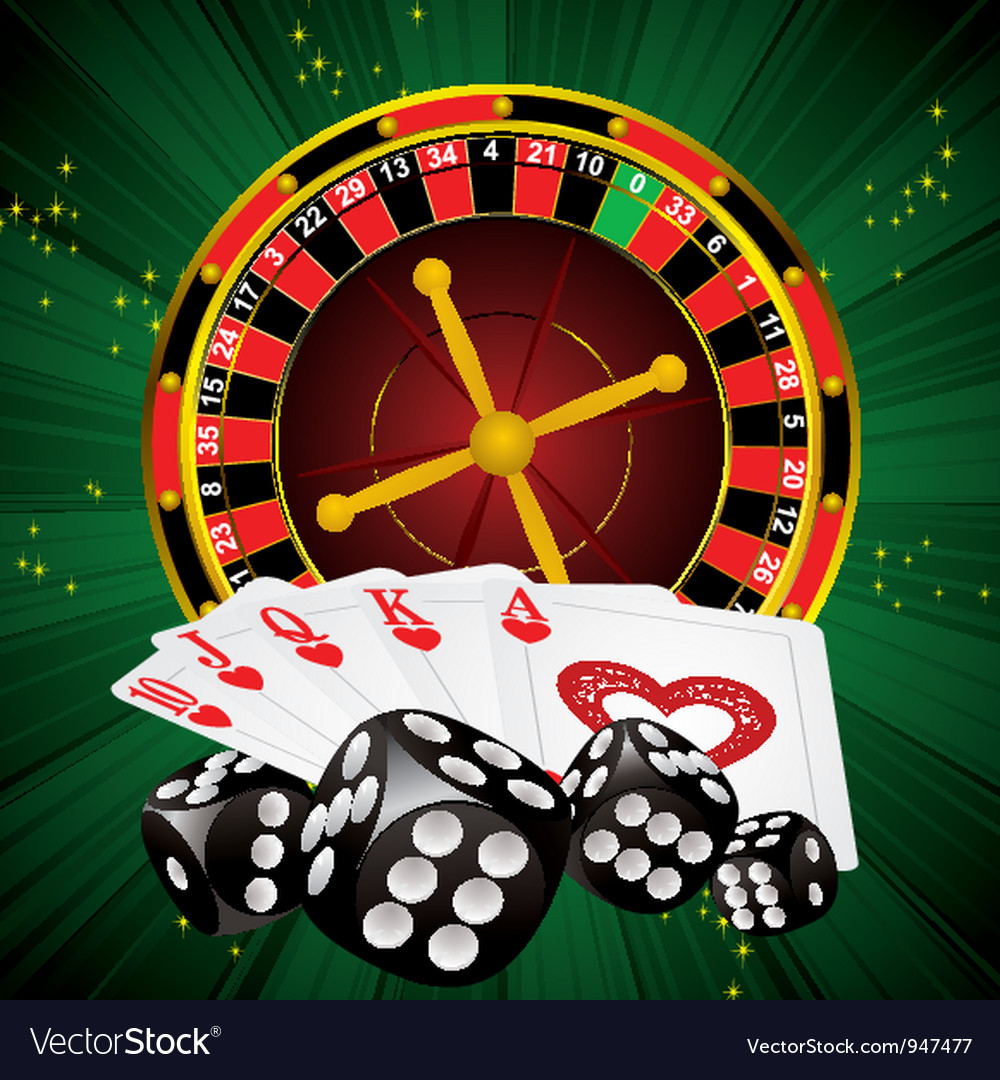 Roulette green dice vector | Price: 3 Credit (USD $3)
