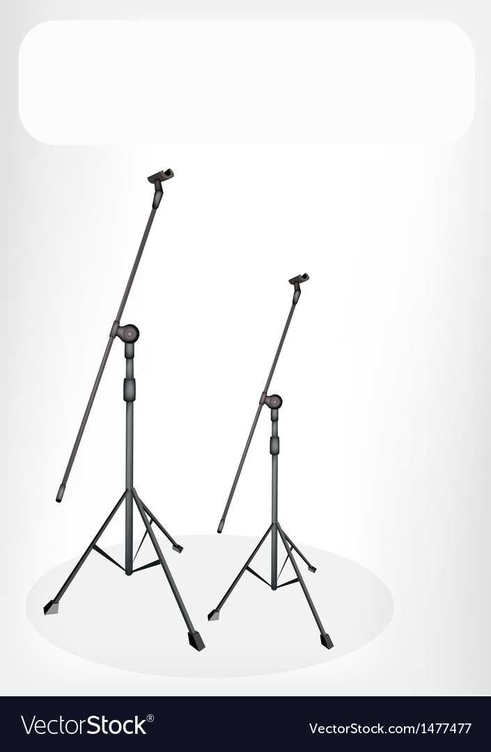 Two microphone stand banner vector | Price: 1 Credit (USD $1)