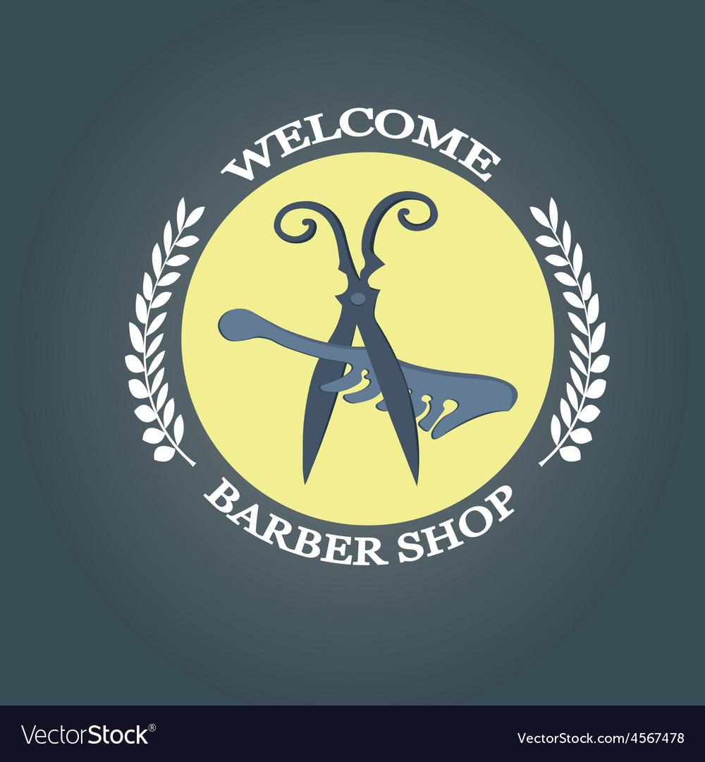 Barber shop vintage retro typographic vector   Price: 1 Credit (USD $1)