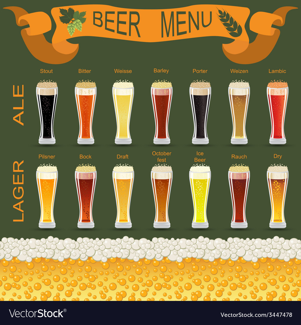 Beer menu set creating your own infographics vector   Price: 1 Credit (USD $1)