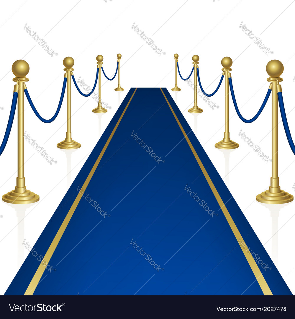 Blue carpet vector | Price: 1 Credit (USD $1)