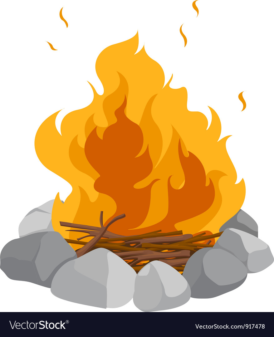 Campfire vector | Price: 3 Credit (USD $3)