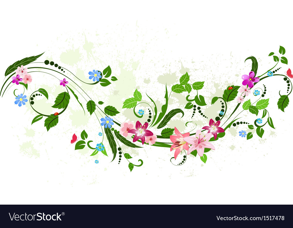 Foliate frame vector | Price: 1 Credit (USD $1)