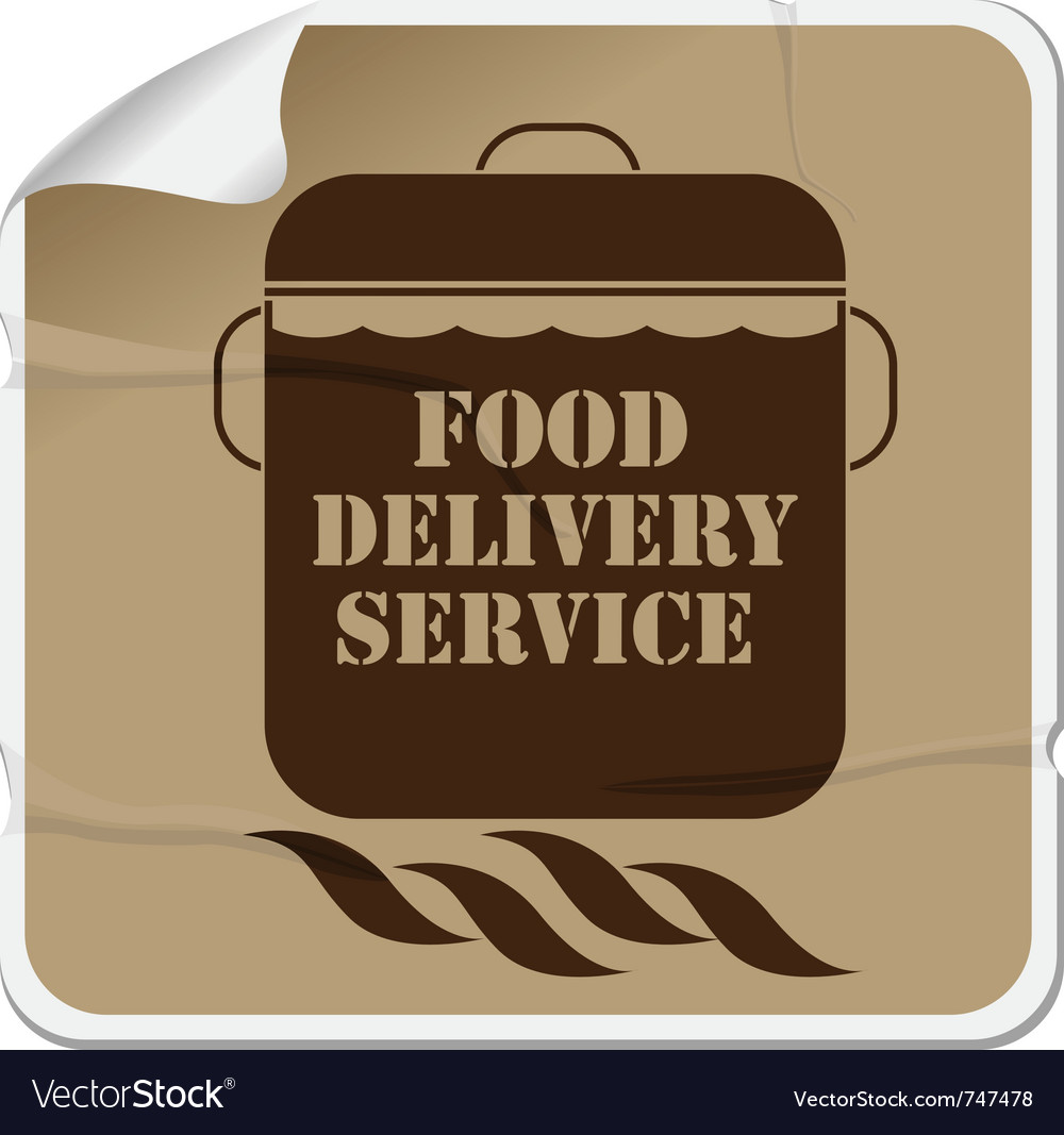 Food delivery sticker vector | Price: 1 Credit (USD $1)