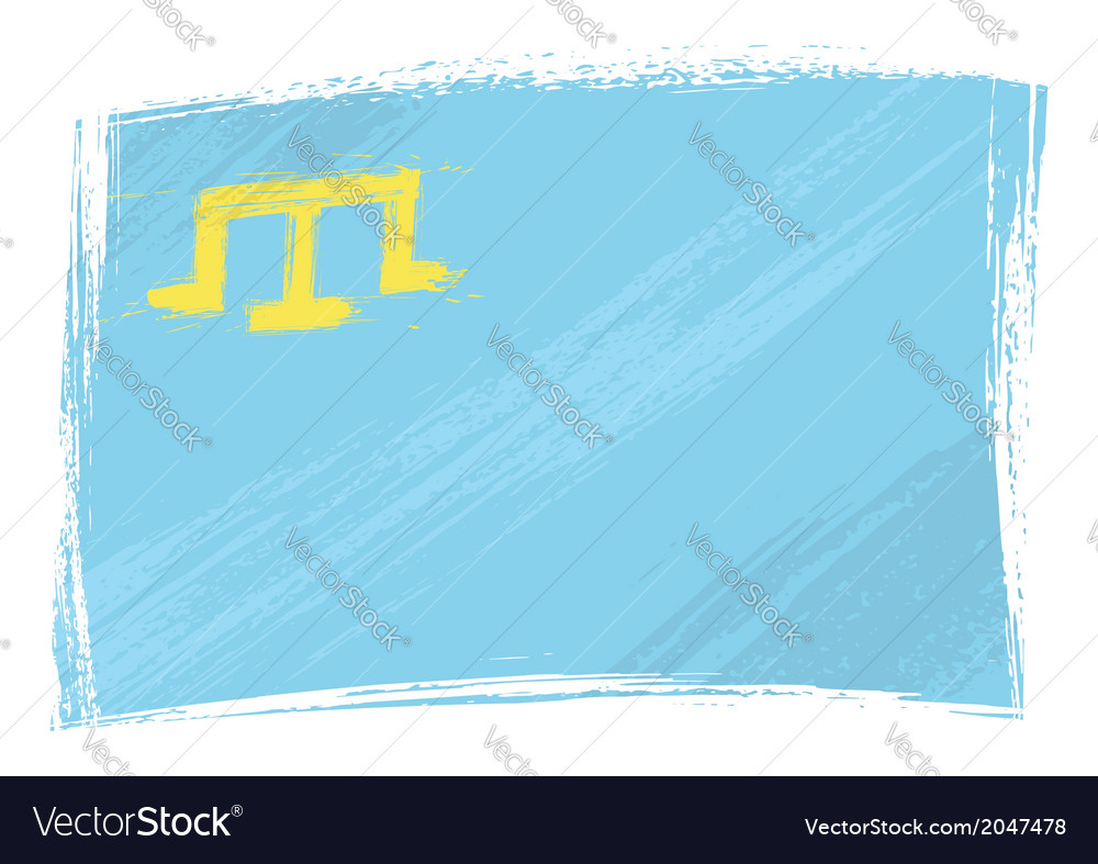 Grunge crimean tatar flag vector | Price: 1 Credit (USD $1)