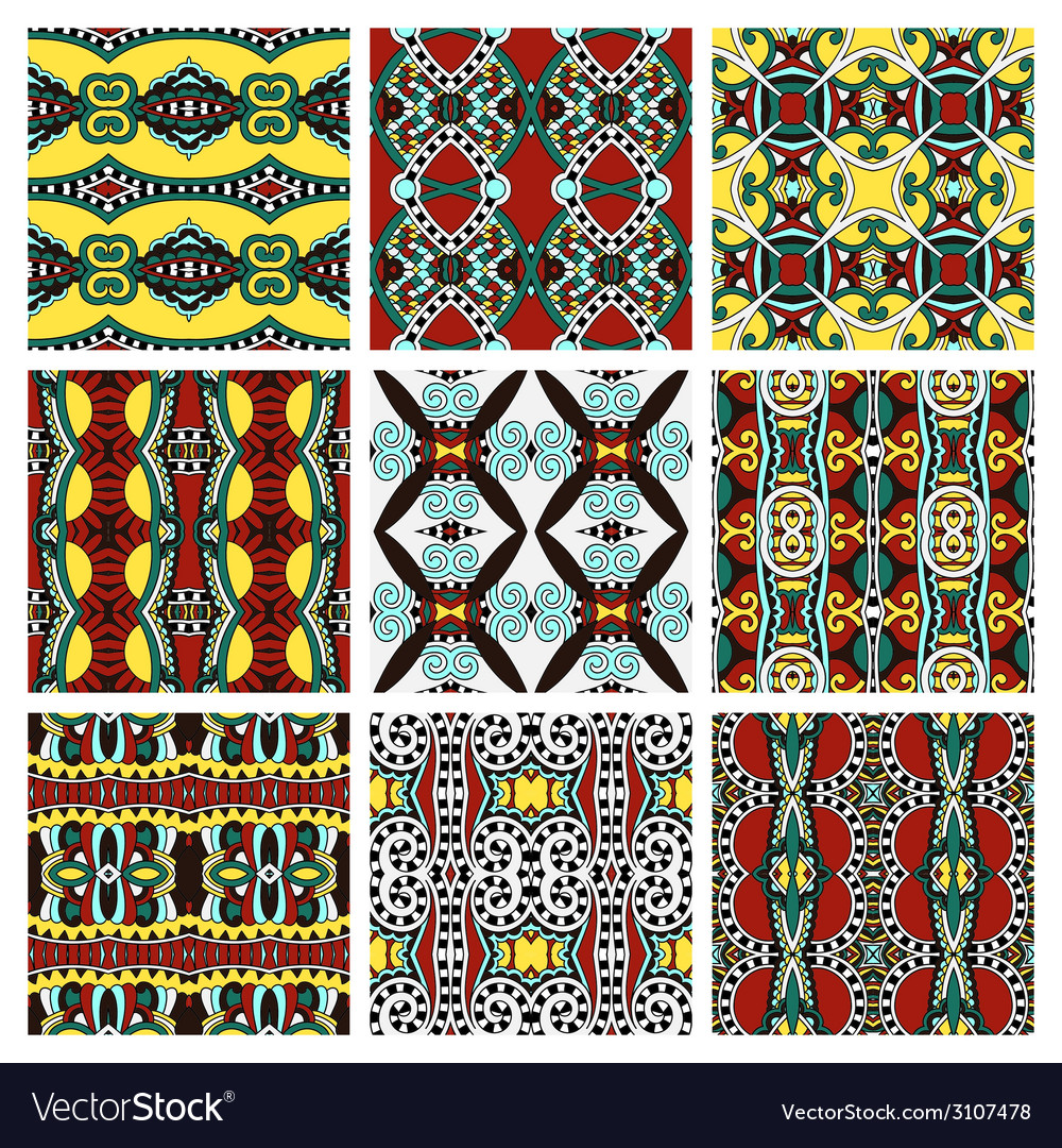 Set of different seamless colored vintage vector | Price: 1 Credit (USD $1)