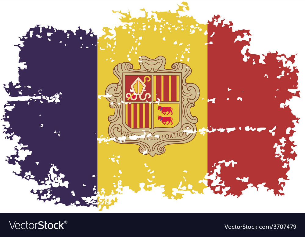 Andorra grunge flag vector | Price: 1 Credit (USD $1)