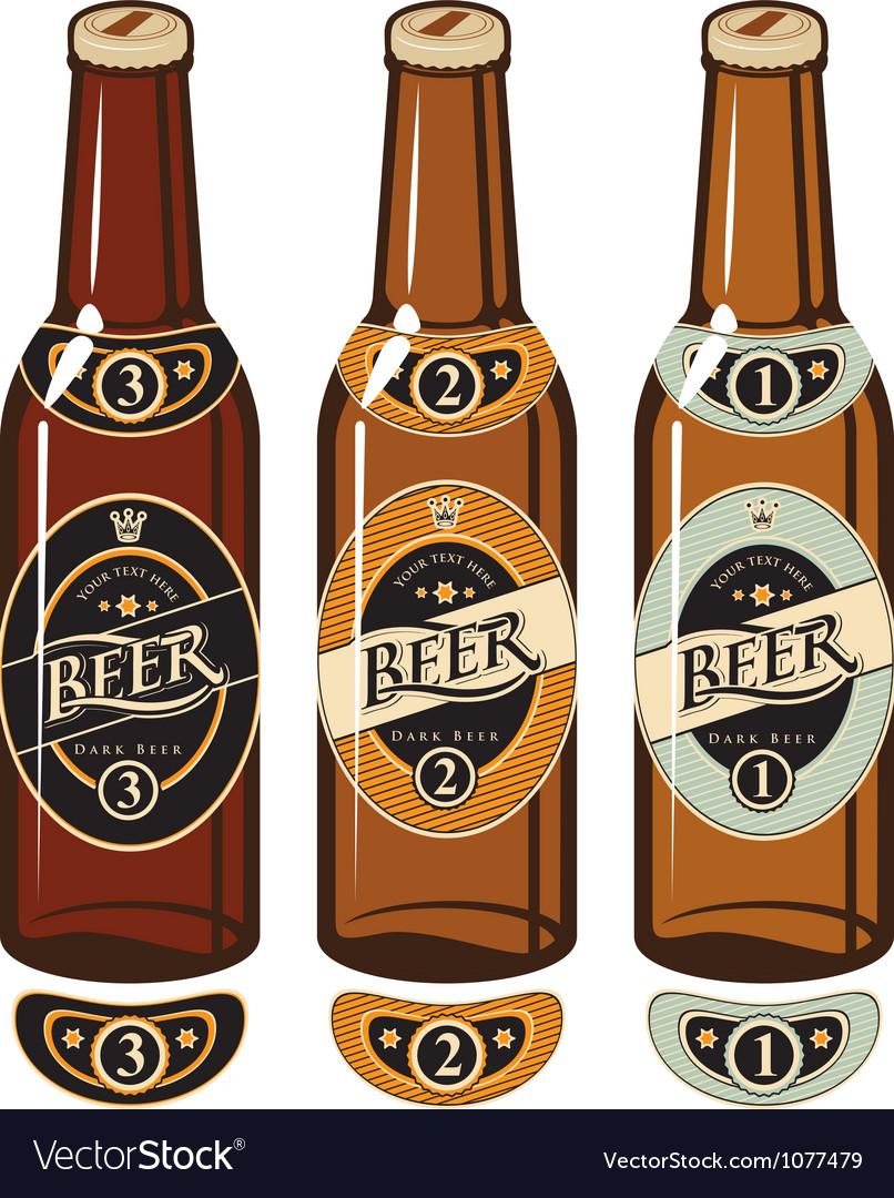 Bottle beer vector | Price: 1 Credit (USD $1)