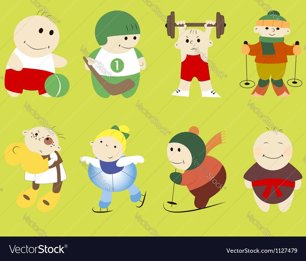 Cartoon sportsmen vector | Price: 1 Credit (USD $1)