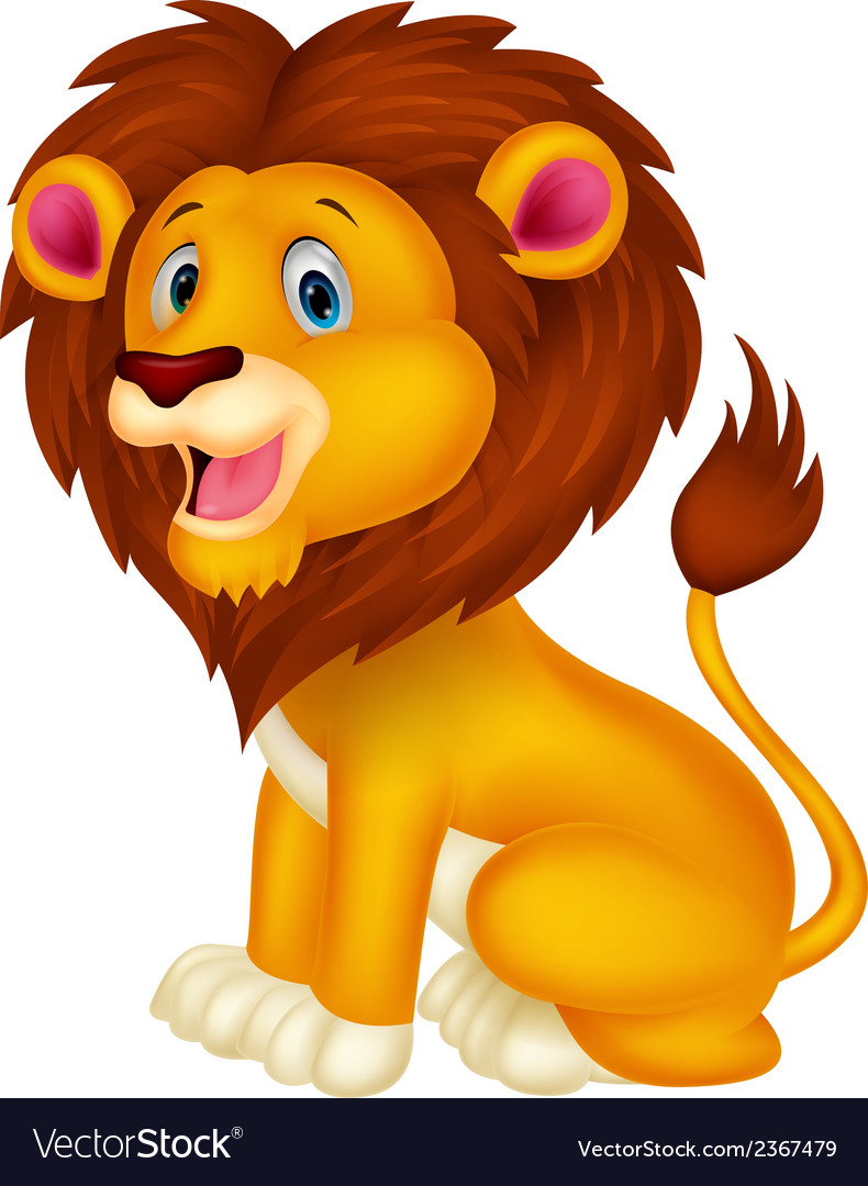 Cute lion cartoon vector | Price: 1 Credit (USD $1)